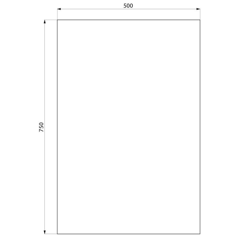 Miroir de toilette verre rectangulaire r f 3454 delabie for Miroir dessin