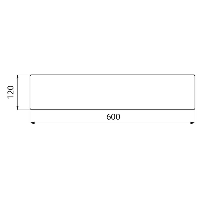 Tablette Murale Poxy Blanc 120 X 600 Mm R F 554 Delabie