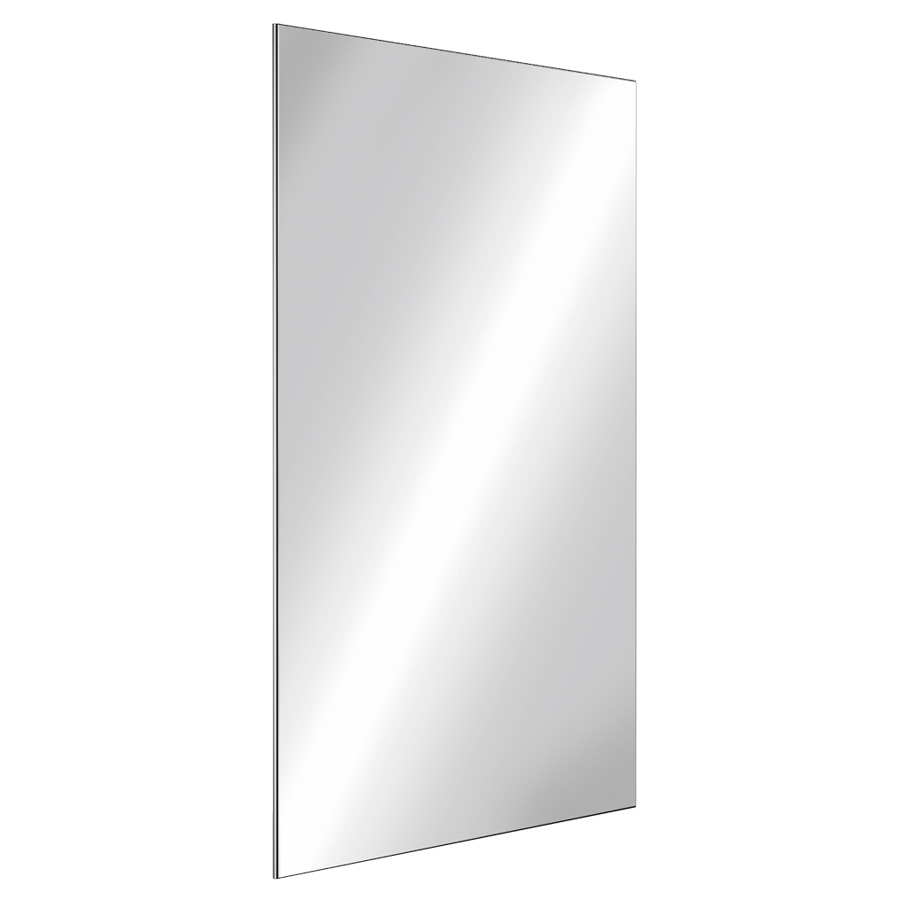 Miroir rectangulaire de toilette inox h 1000 mm r f for Miroir definition