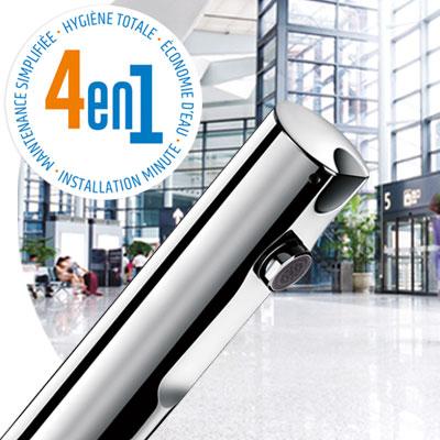 T4 sans contact - Mitigeur et robinet électronique de lavabo