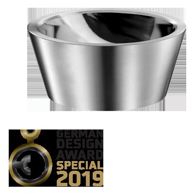 German Design Award 2019: « SPECIAL MENTION » pour la vasque à poser ALGUI en Inox