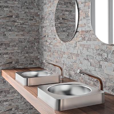 BINOPTIC hauts pour vasques à poser et vasques semi-encastrées