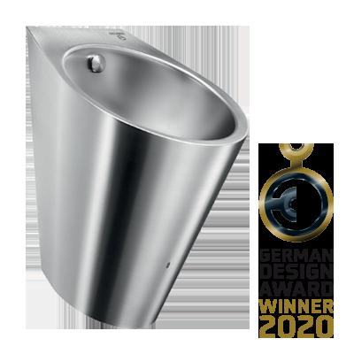 Urinoir Inox hybride HYBRIMATIC FINO lauréat du concours GERMAN DESIGN AWARD 2020