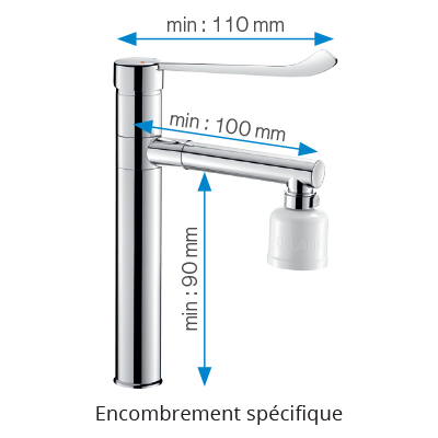 Des robinetteries adaptées à la pose de filtres terminaux