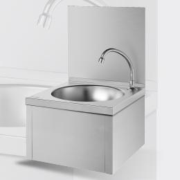 Lave-mains mécanique avec commande au genou