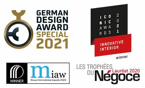 Produit récompensé par plusieurs concours de design