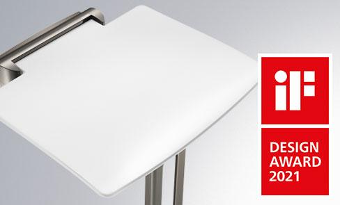 Le siège de douche Be-Line® remporte le IF DESIGN AWARD 2021 - Catégorie Product design - bathroom