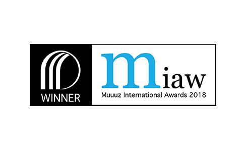 Produit gagnant des Muuuz International Awards 2018