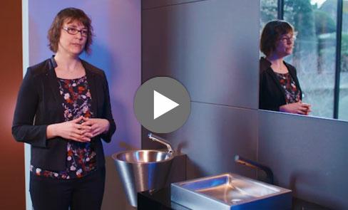 Découvrez en vidéo la vasque Inox UNITO, avec son design intemporel et minimaliste