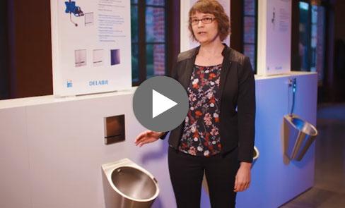 Découvrez en vidéo l'urinoir design Inox FINO, produit incontournable dans les sanitaires