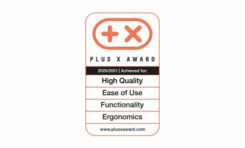 Primée au concours d'innovation mondial Plus X Award